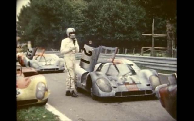 Un «making of» inédit en 8mm du film «Le Mans» de Steve McQueen.