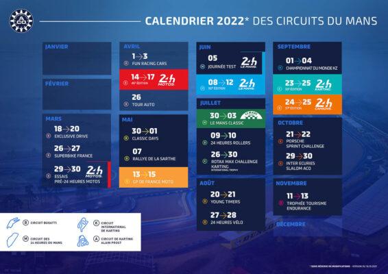 L'ACO dévoile son calendrier 2022